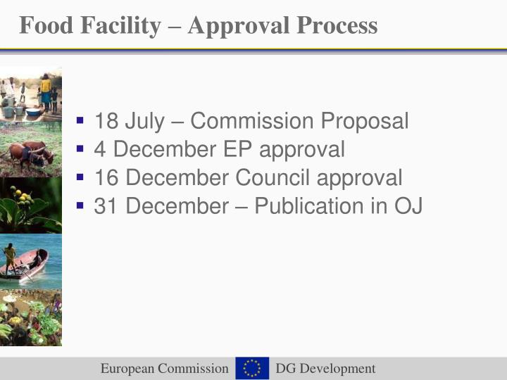 Food Facility – Approval Process