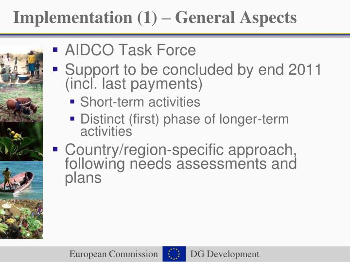 Implementation (1) – General Aspects