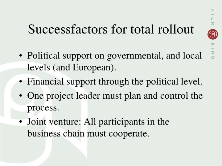 Successfactors for total rollout
