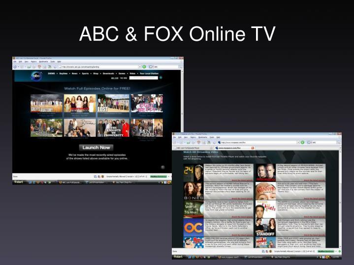 ABC & FOX Online TV