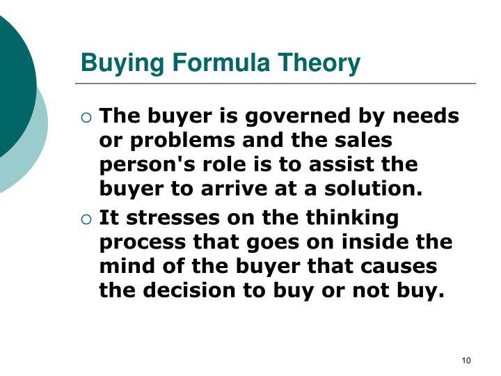 Buying Formula Theory