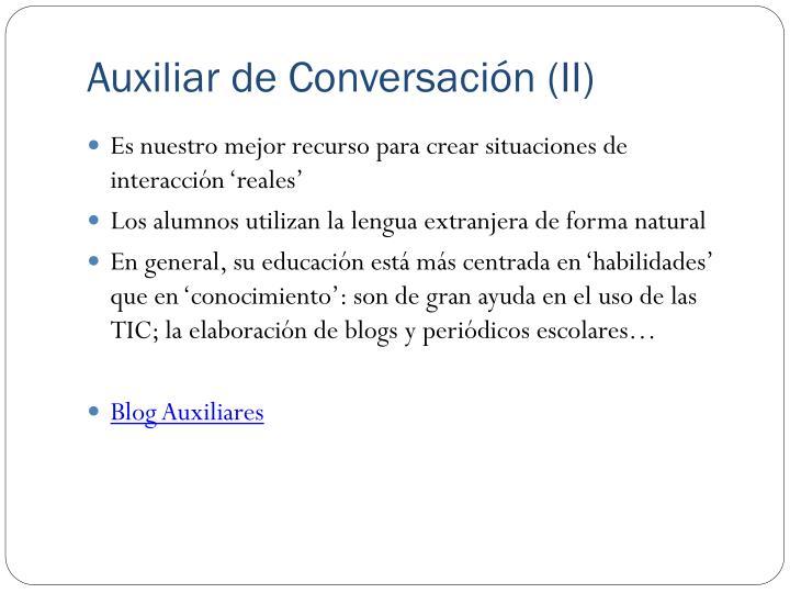 Auxiliar de Conversación (II)