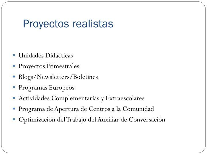 Proyectos realistas