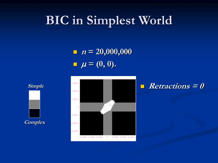 BIC in Simplest World