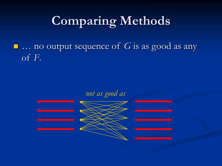 Comparing Methods