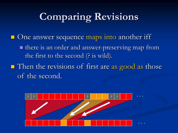 Comparing Revisions