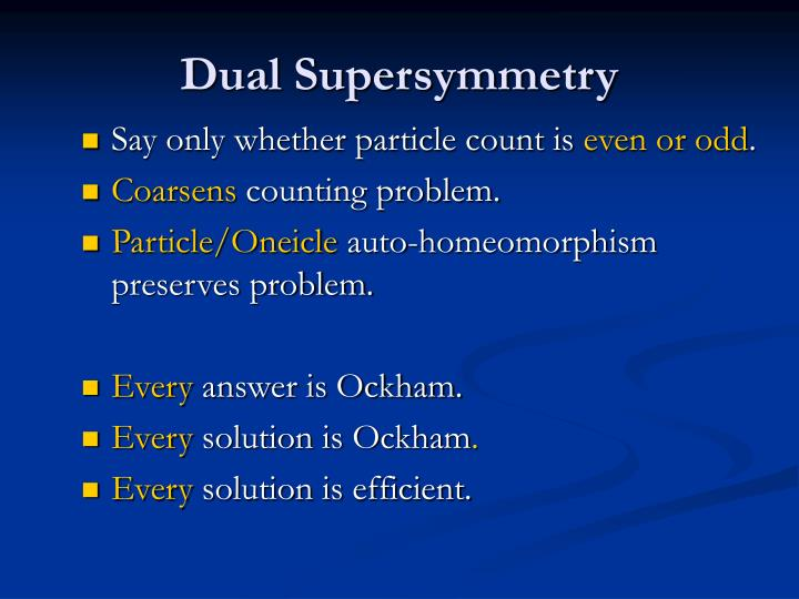 Dual Supersymmetry