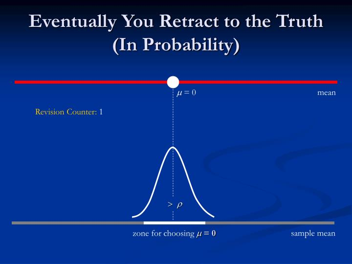 Eventually You Retract to the Truth (In Probability)