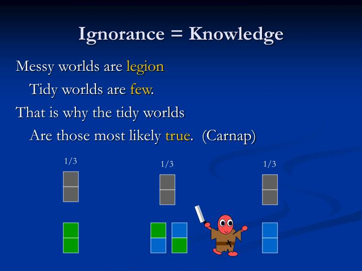 Ignorance = Knowledge