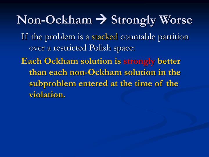Non-Ockham
