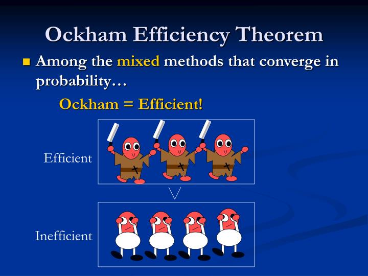 Ockham Efficiency Theorem