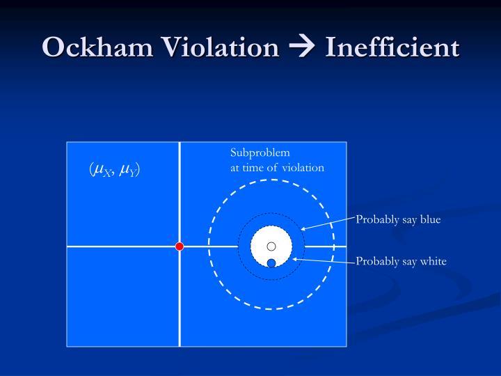 Ockham Violation