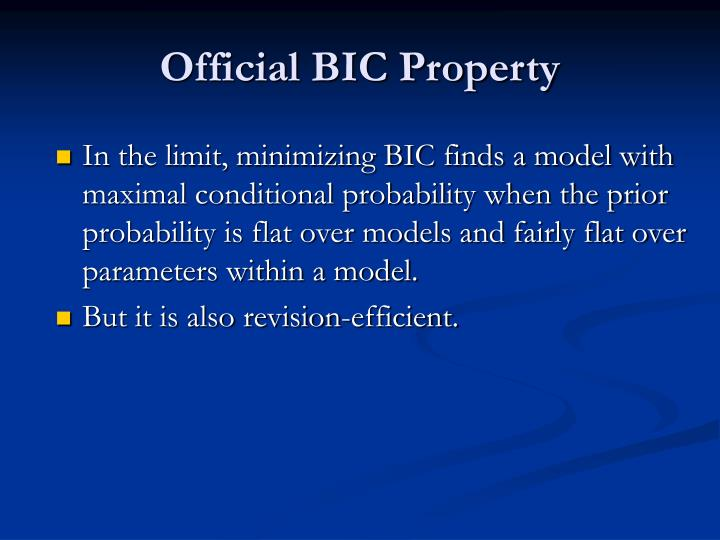 Official BIC Property