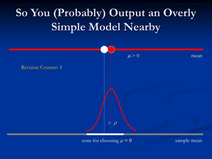 So You (Probably) Output an Overly Simple Model Nearby