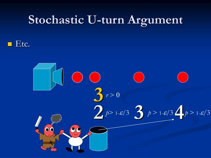 Stochastic U-turn Argument