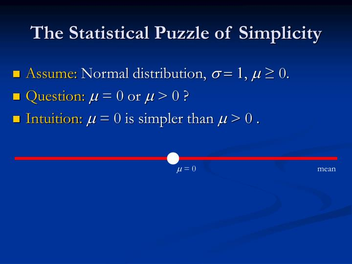 The Statistical Puzzle of Simplicity