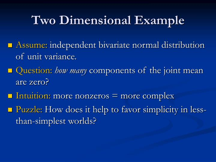 Two Dimensional Example