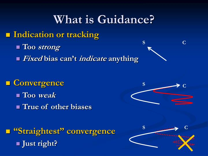 What is Guidance?