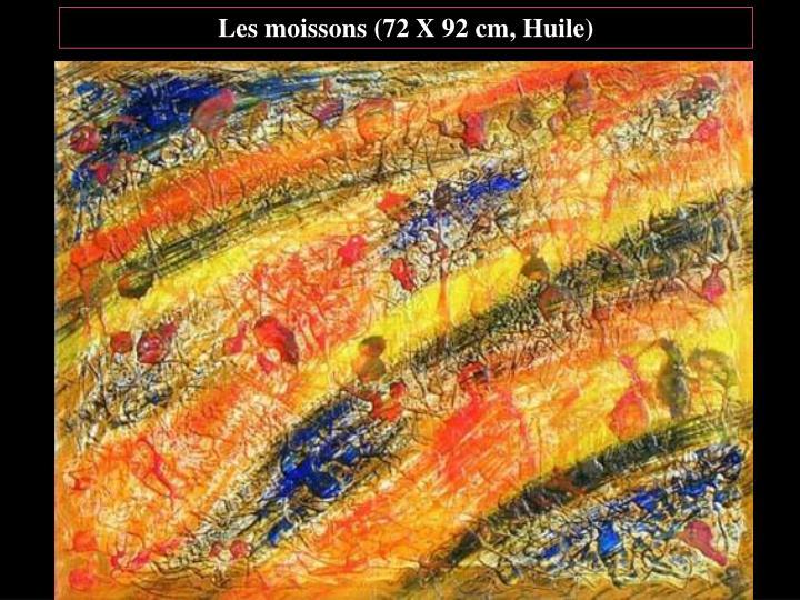 Les moissons (72 X 92 cm, Huile)