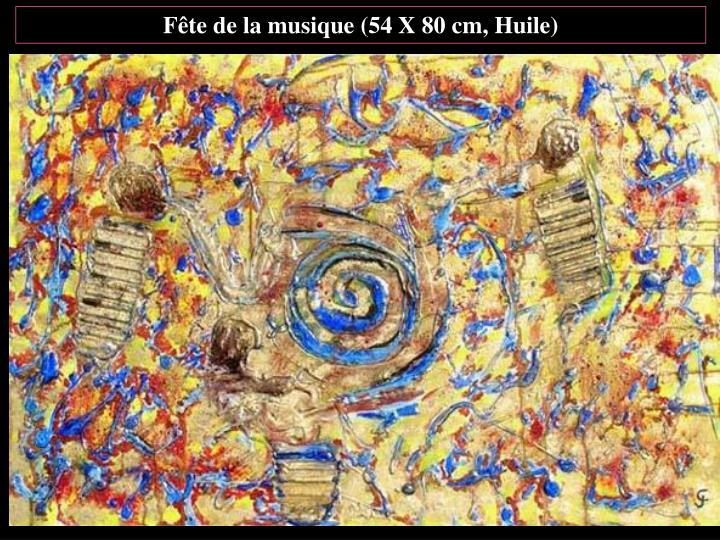 Fête de la musique (54 X 80 cm, Huile)