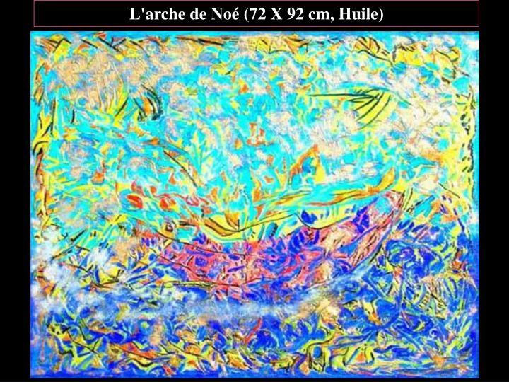 L'arche de Noé (72 X 92 cm, Huile)