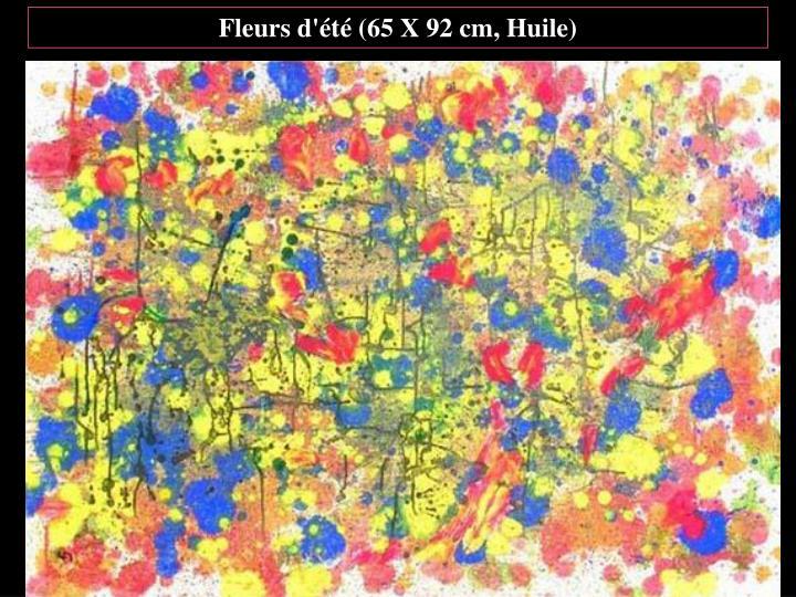 Fleurs d'été (65 X 92 cm, Huile)