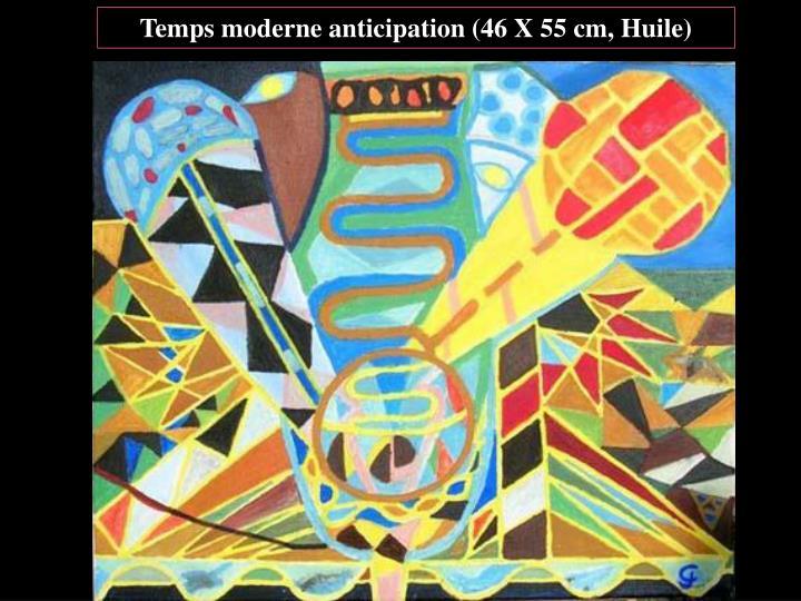Temps moderne anticipation (46 X 55 cm, Huile)