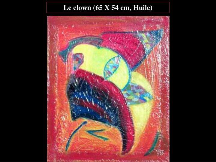 Le clown (65 X 54 cm, Huile)