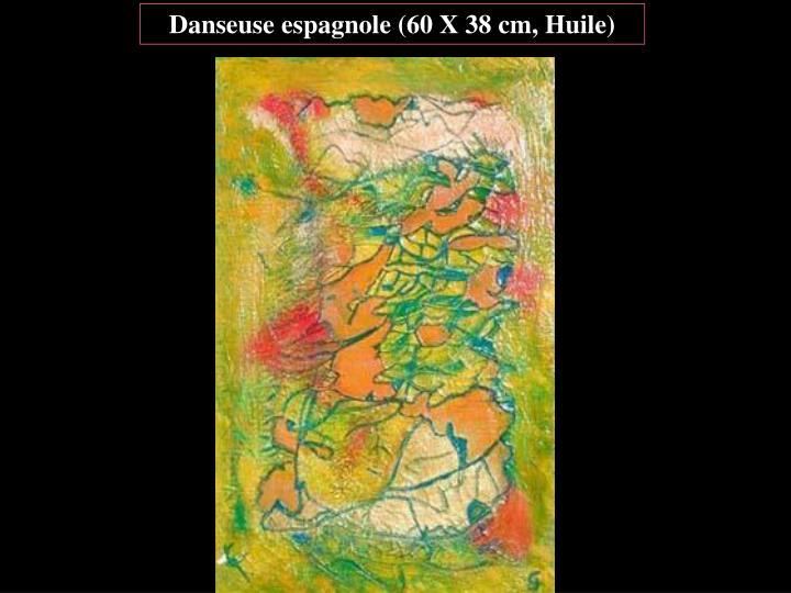 Danseuse espagnole (60 X 38 cm, Huile)