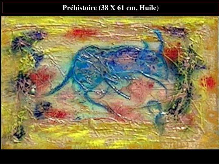 Préhistoire (38 X 61 cm, Huile)