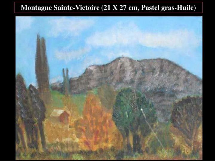 Montagne Sainte-Victoire (21 X 27 cm, Pastel gras-Huile)