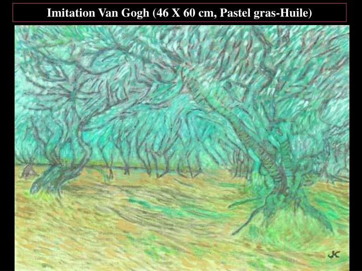 Imitation Van Gogh (46 X 60 cm, Pastel gras-Huile)