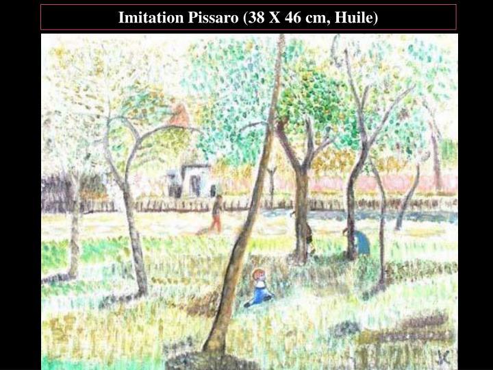 Imitation Pissaro (38 X 46 cm, Huile)