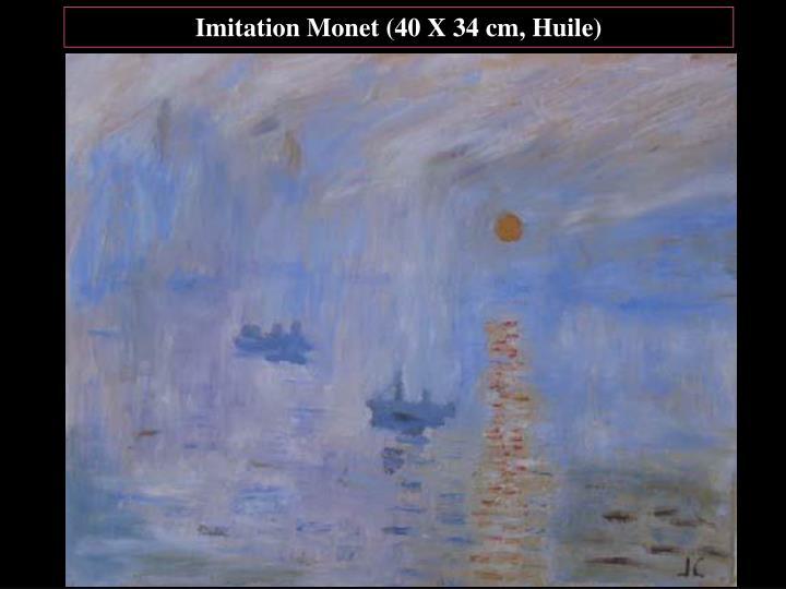 Imitation Monet (40 X 34 cm, Huile)