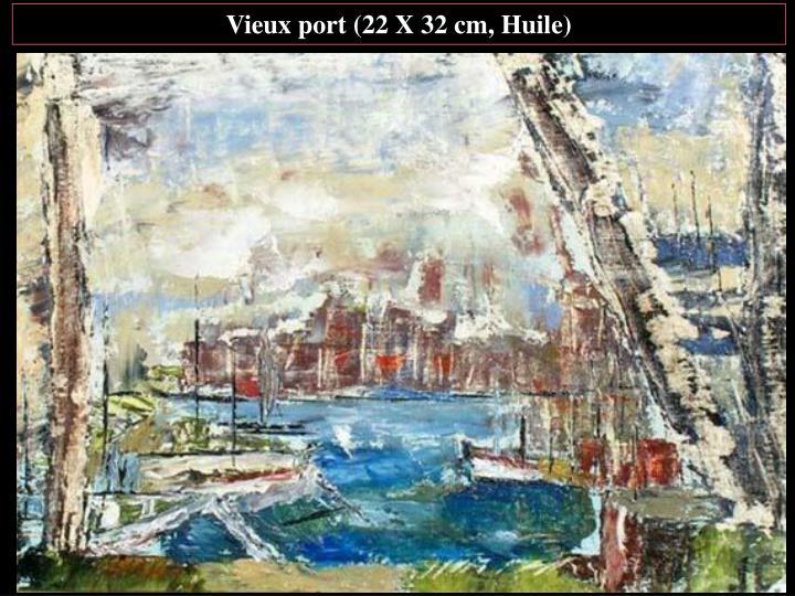 Vieux port (22 X 32 cm, Huile)