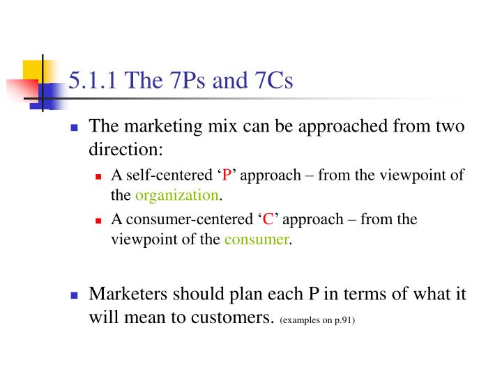 5.1.1 The 7Ps and 7Cs
