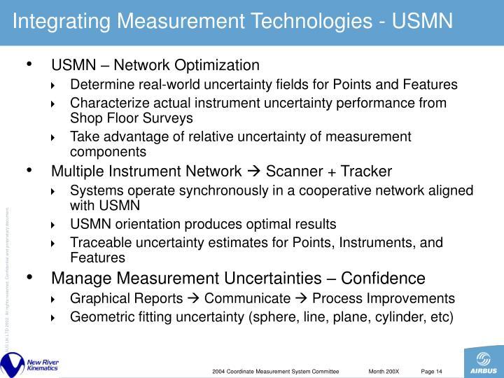 Integrating Measurement Technologies - USMN