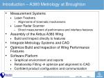 introduction a380 metrology at broughton