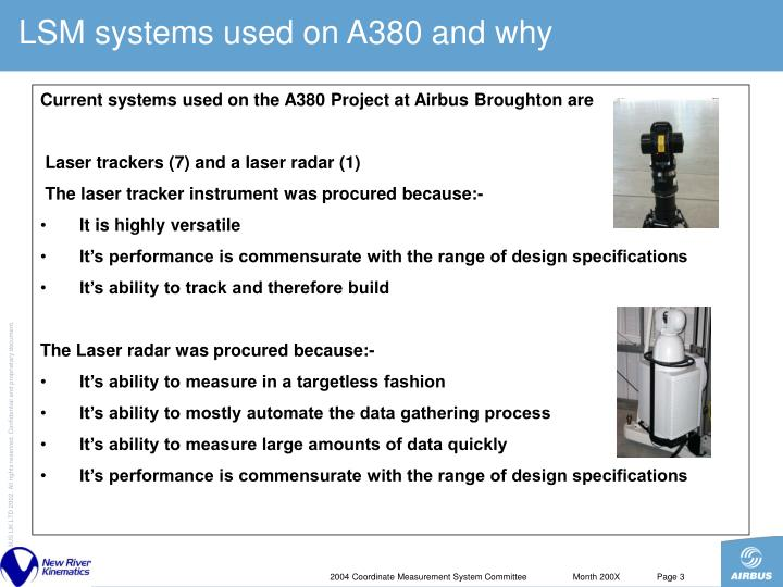LSM systems used on A380 and why