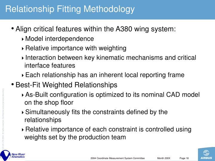 Relationship Fitting Methodology