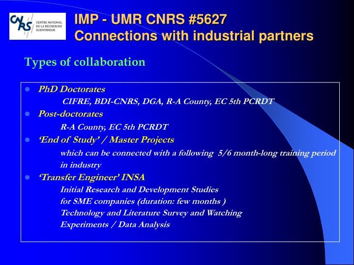 IMP - UMR CNRS #5627