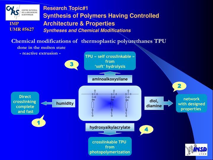 TPU «self crosslinkable»
