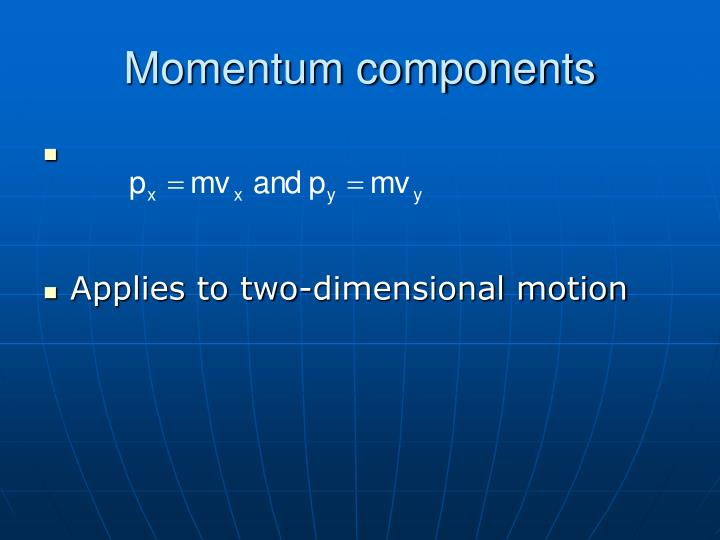 Momentum components