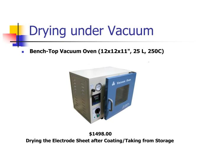 Drying under Vacuum