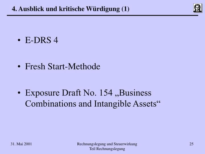 4. Ausblick und kritische Würdigung (1)