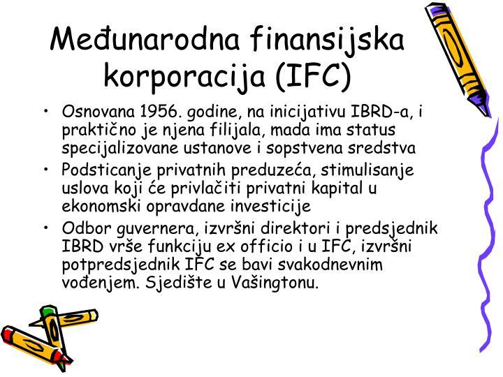 Međunarodna finansijska korporacija (IFC)