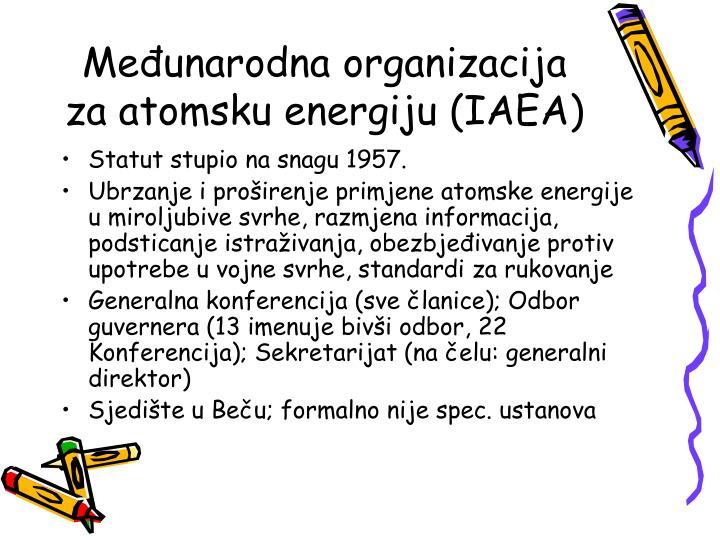 Međunarodna organizacija za atomsku energiju (IAEA)