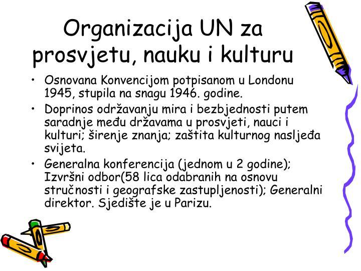 Organizacija UN za prosvjetu, nauku i kulturu