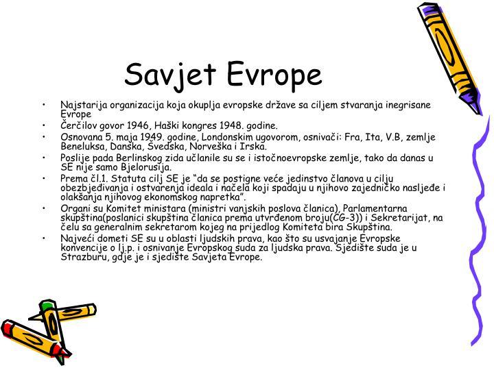Savjet Evrope