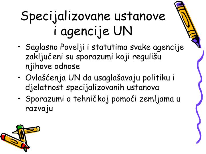 Specijalizovane ustanove i agencije UN